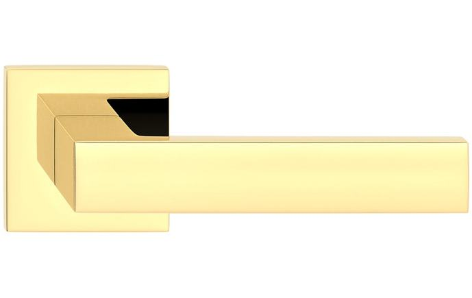 Cube hranatá slim - farba mosadz lesklá