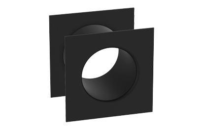 Kryty ventilačných otvorov hranaté - čierne
