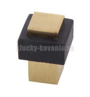 Doraz dverí hranatý 35 mm šróbovací - farba mosadz