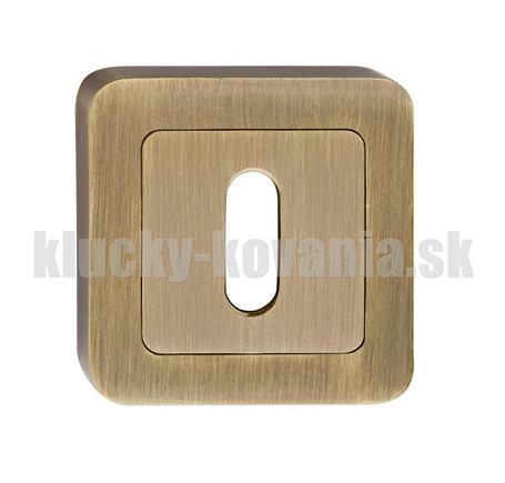 Rozeta hranatá kľúč - farba bronz SZZPK