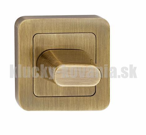 Rozeta hranatá wc - farba bronz SZZPW