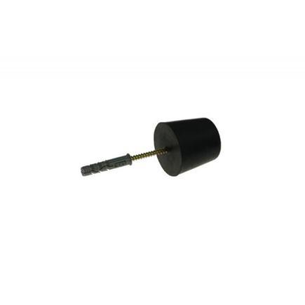 Doraz dverí  gumový šróbovací malý ø 33mm
