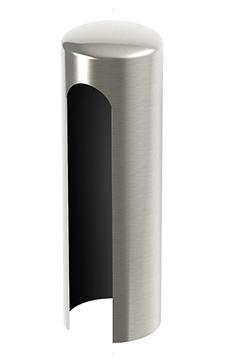 Krytka na pánty 15mm - farba nikel