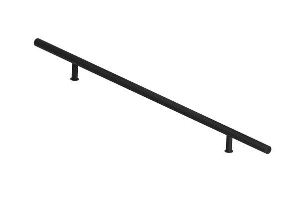 Madlo  - okrúhle čierne 150 cm jednostranné