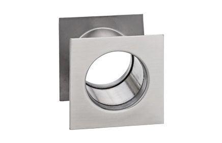 Kryty ventilačných otvorov hranaté - nikel satén 40 mm