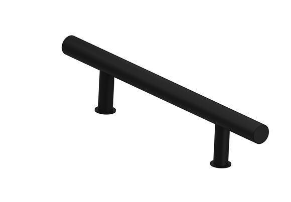 Madlo  - okrúhle čierne 50 cm jednostranné