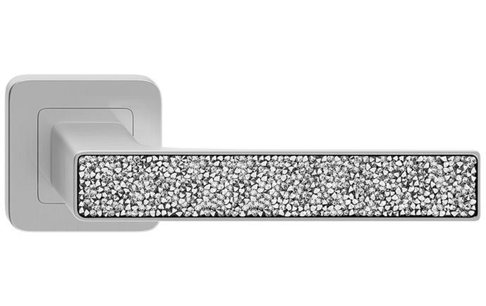 Deco Glamour - farba nikel + strieborné kryštáliky