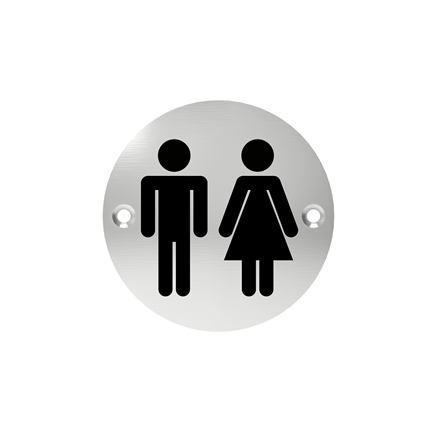 Označenie dverí - piktogram toalety spoločné, šróbovacie