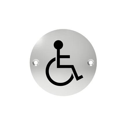 Označenie dverí - piktogram toalety pre imobilných, šróbovacie