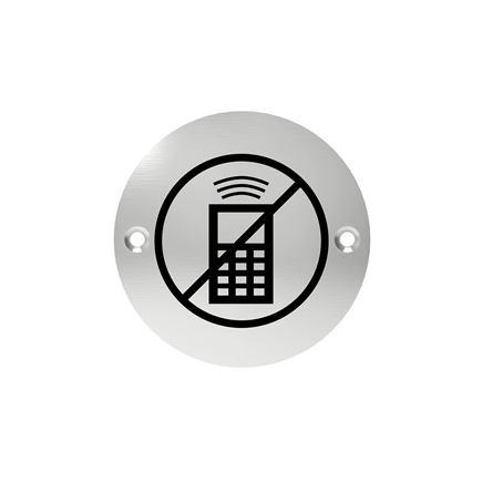 Označenie dverí - piktogram zákaz telefonovania, šróbovacie