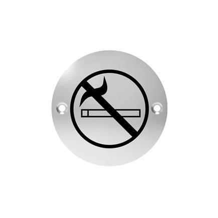 Označenie dverí - piktogram zákaz fajčiť, šróbovacie