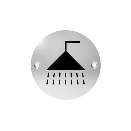 Označenie dverí - piktogram sprcha, šróbovacie