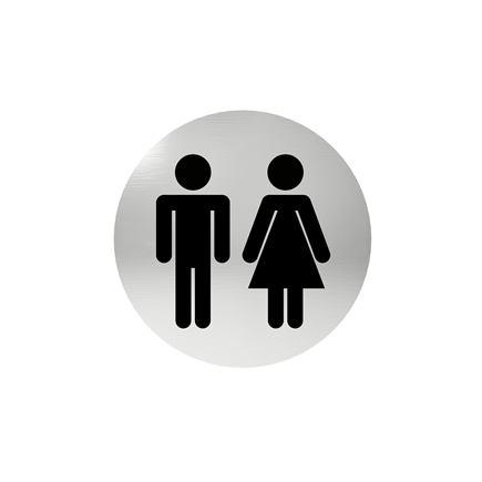Označenie dverí - piktogram toalety spoločné, samolepiace