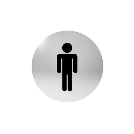 Označenie dverí - piktogram toalety pánske, samolepiace