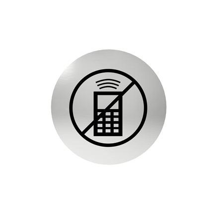 Označenie dverí - piktogram zákaz telefónovania, samolepiace