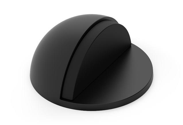 Doraz dverí okrúhly lepiaci - farba čierna ODCZK